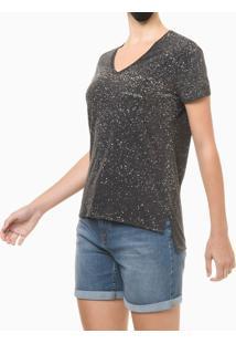 Blusa Feminina Respingos Preta Calvin Klein Jeans - Pp