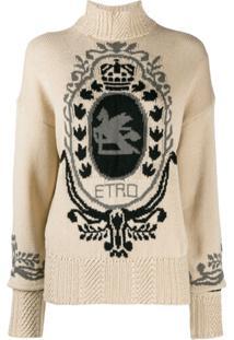 Etro Suéter Com Logo - Neutro
