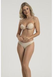 Sutiã Recco De Silicone Com Tecido - Feminino-Nude