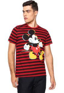 Camiseta Cativa Disney Mickey Vermelha