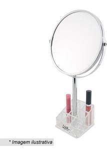 Espelho Make Up Com Porta Maquiagem- Espelhado & Incolorlizz