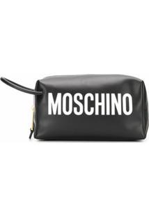 Moschino Necessaire Com Logo - Preto