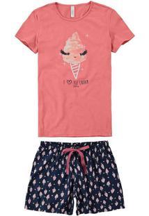 Pijama Feminino Curto Malwee 1000073443 01685-Salm