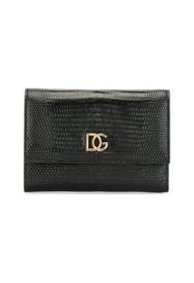Dolce & Gabbana Carteira Com Efeito De Pele De Cobra - Preto