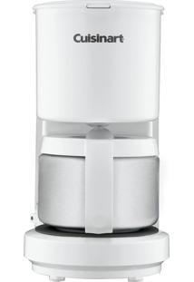 Cafeteira Elétrica Dcc450 Branca Cuisinart - 4 Xícaras, C Jarra Em Inox, Desligamento Automático, Compacta