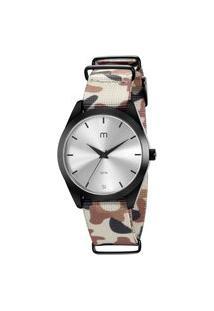 Kit De Relógio Analógico Mondaine Militar Feminino + Pulseira - 32031Lpmgpj2K Preto