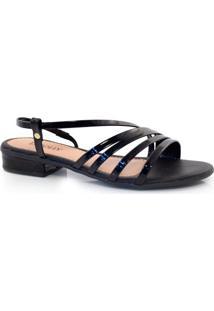 Sandália De Salto Baixo Lacolly