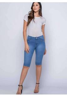Bermuda Maria João Almaria Plus Size Shyros Jeans