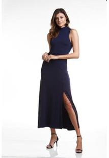 Vestido Wool Line Tricot Gola Alta Feminino - Feminino