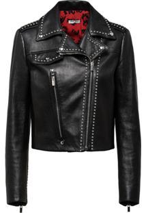 Miu Miu Studded Biker Jacket - Preto