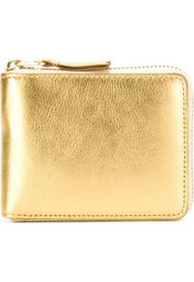 Comme Des Garçons Wallet Carteira Modelo 'Gold Line' - Metálico