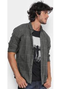 Camisa Xadrez Reserva Mesclada Manga Longa Masculina - Masculino