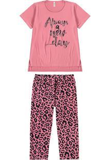 Pijama Feminino Estampado Oncinha Malwee Liberta