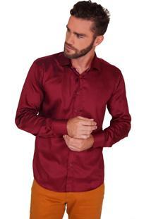 Camisa Lupim Slim Fit Bordô Bt Bordô