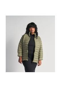 Jaqueta Curta Em Poliamida Com Gomos Curve & Plus Size | Ashua Curve E Plus Size | Bege | G