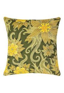 Capa De Almofada Colorida Estampada Verde Floral 45 X 45