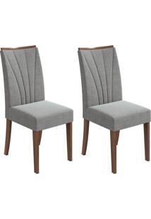 Conjunto Com 2 Cadeiras Apogeu Imbuia E Cinza