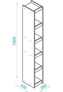 Estante Para Livros 4 Prateleiras Bl12 06 Frame Moderno Brv Móveis Branco