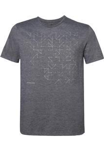 Camiseta Dudalina Manga Curta Decote Careca Deconstruction Masculina (Cinza Mescla Claro, G)