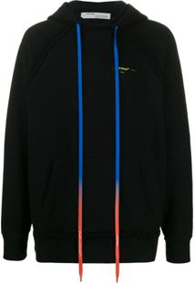 Off-White Arrows Print Gradient Strings Hooded Sweater - Preto