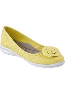 Sapatilha Feminino Piccadilly Sola Eva Exp Branco - Jomo Amarelo Palido/Napa Amarelo Palido - 972001