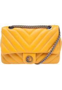 Bolsa Dumond Transversal Matelasse Premium Amarelo
