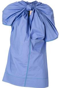 Marni Blusa Com Detalhe De Torção - Azul