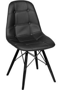 Cadeira Eames Dkr Com Botonãª- Preta- 83X44X39Cm-Or Design