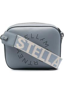 Stella Mccartney Bolsa Tiracolo Com Logo Stella - Azul