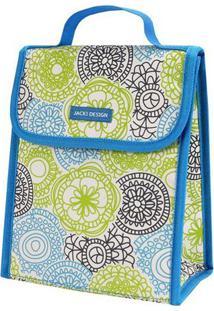 Bolsa Térmica Mandala- Azul & Branca- 19X23X13Cmjacki Design