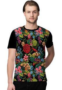 Camiseta Stompy Seamless Masculina - Masculino-Preto