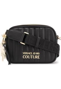 Versace Jeans Couture Quilted Cross-Body Bag - Preto