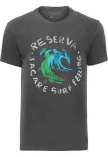 Camiseta Masculina Jacaré - Cinza