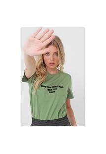 Camiseta Colcci Wmn Pwr Verde