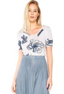 Camiseta Lez A Lez Forty Branca/Azul