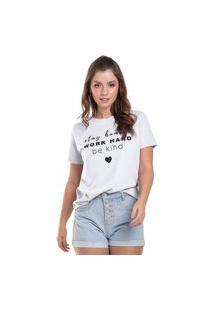 T-Shirt Feminina Be Kind Branco (30000) G Branco
