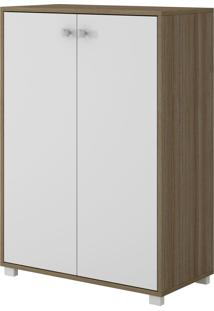 Armário Bam 04-47 Marrom E Branco Brv Móveis