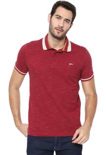 Camisa Polo Yachtsman Reta Logo Vinho