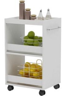 Multiuso Essence Com Fruteira E Rodízios Branco - Aroma