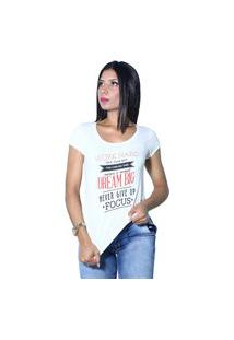 Camiseta Heide Ribeiro Work Hard Give Your Best Off White