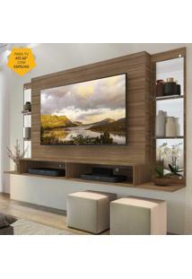 Painel Tv Atã© 60 Polegadas Com Espelho E Prateleiras De Vidro Nairã³Bi Multimã³Veis Madeirado - Incolor - Dafiti