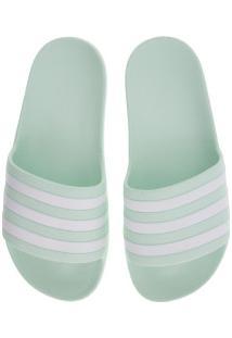 Chinelo Adidas Adilette Aqua - Slide - Feminino - Verde Claro