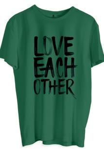 Camiseta Masculina Joss Estampa Love Each Verde Musgo