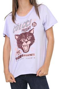 Camiseta Colcci Rock Party Lilás