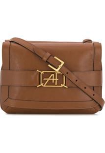 Alberta Ferretti Flap Shoulder Bag - Marrom
