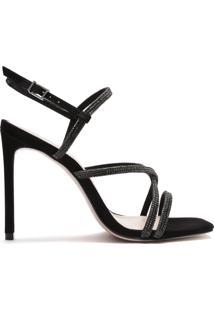 Sandália Salto Curves Glam Black | Schutz