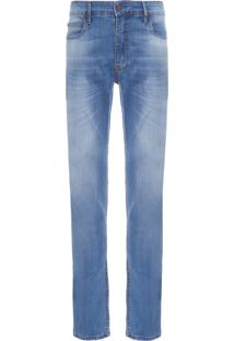 Calça Masculina Jeans Barrel - Azul