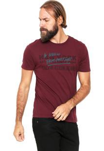 Camiseta Calvin Klein Jeans Perspective Vinho