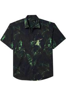 Camisa John John Leaf Masculina (Estampado, Gg)