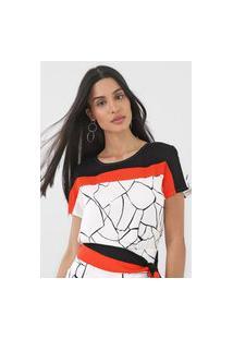 Camiseta Forum Estampada Off-White/Laranja